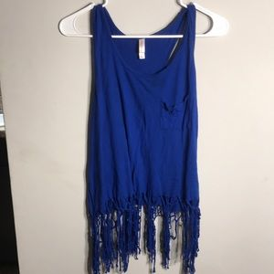 Royal Blue fringe top